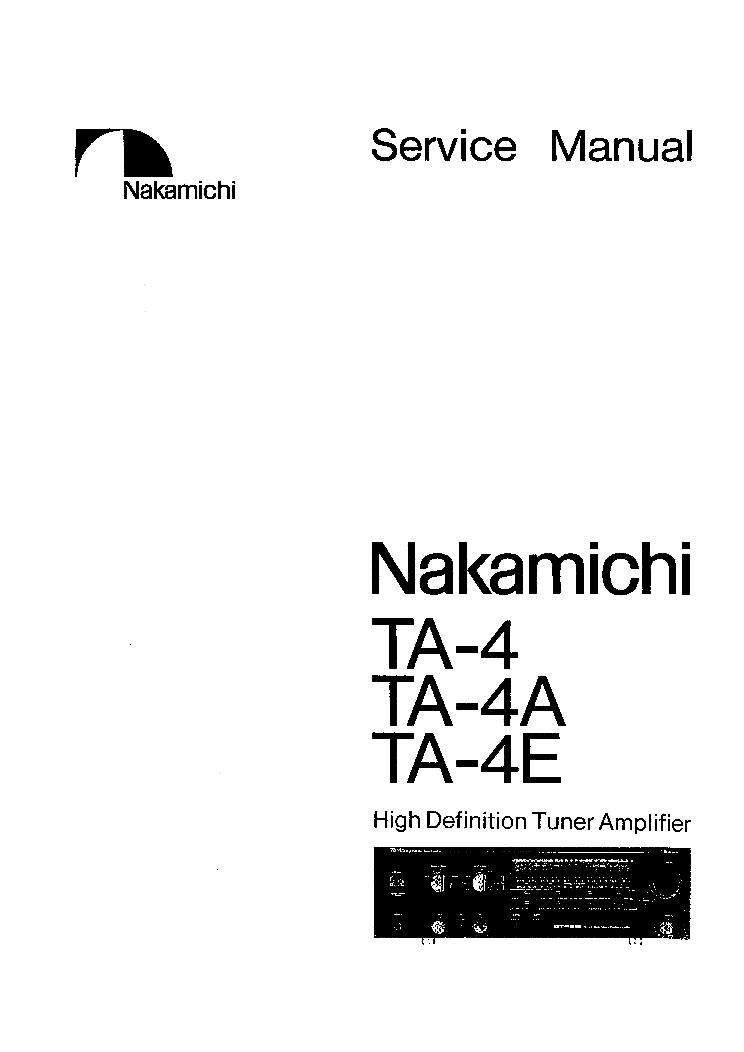 NAKAMICHI TA-4 4A 4E SM 2 Service Manual download