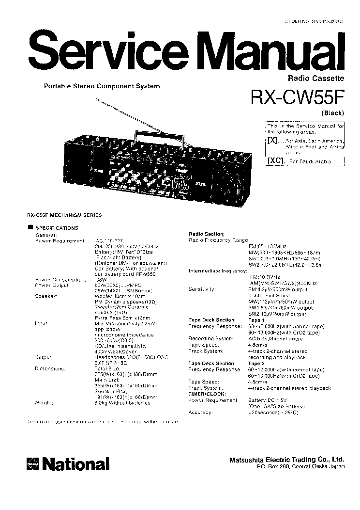 NATIONAL HRO-60 RECEIVER Service Manual download