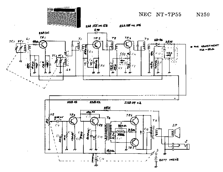 NEC NT-7P55 SCH Service Manual download, schematics