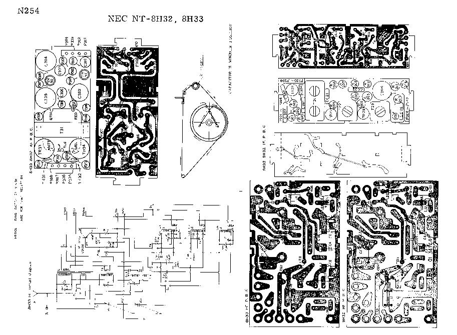 NEC NT-8H32 NT-8H33 SM Service Manual download, schematics
