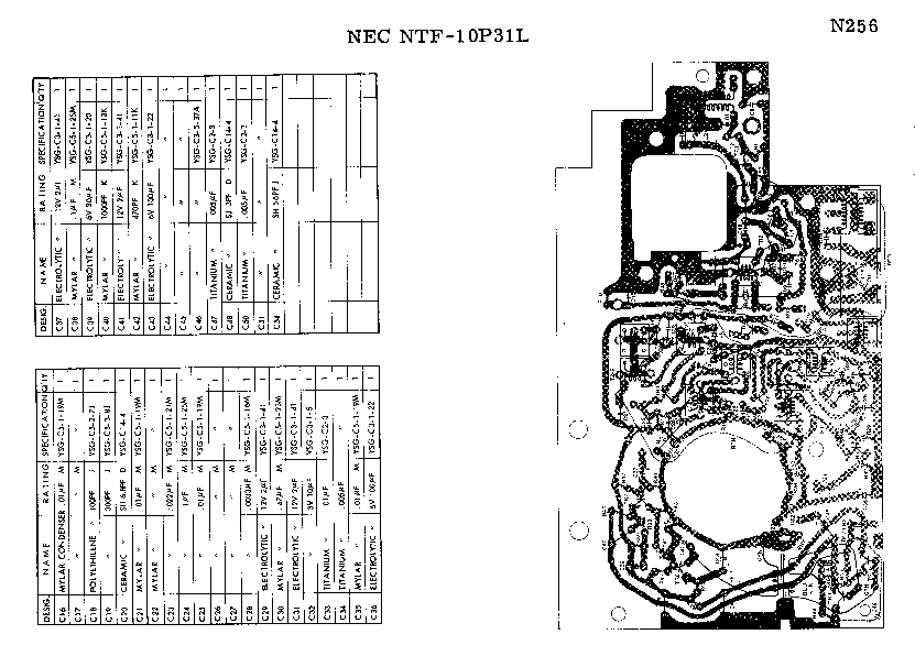 NEC NTF-10P31L SM Service Manual download, schematics
