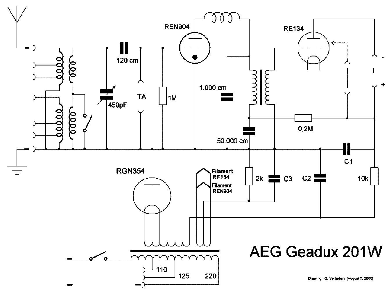 AEG 709WK ORCHESTER SUPER RADIO SCH Service Manual