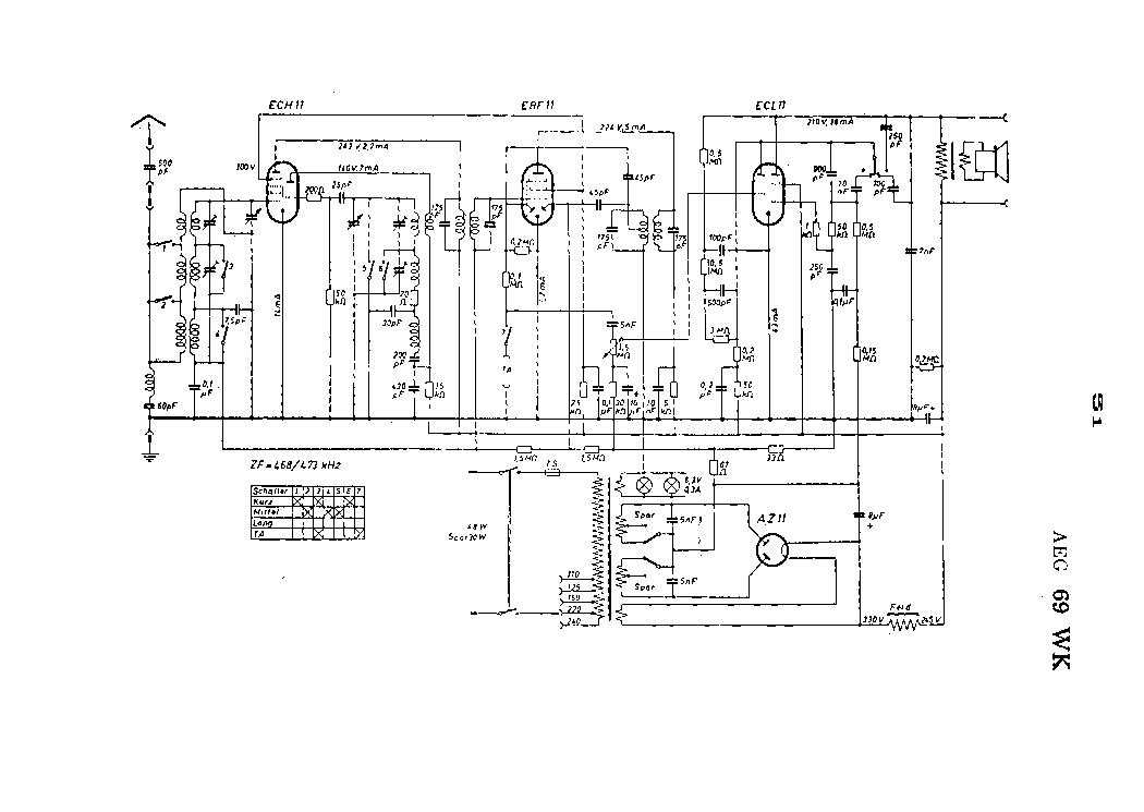 AEG 69WK RADIO SCH Service Manual download, schematics
