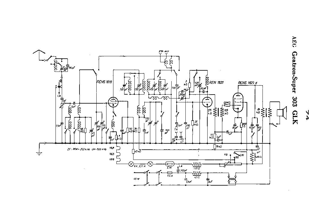 AEG GEATRON 303 GLK SUPER RADIO SCH Service Manual
