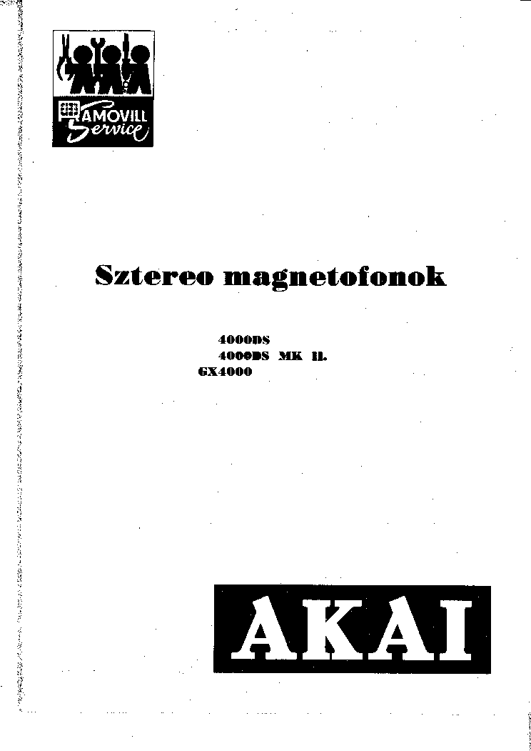 AKAI GX-4000 4000DS 4000DS-MK2 SM Service Manual download