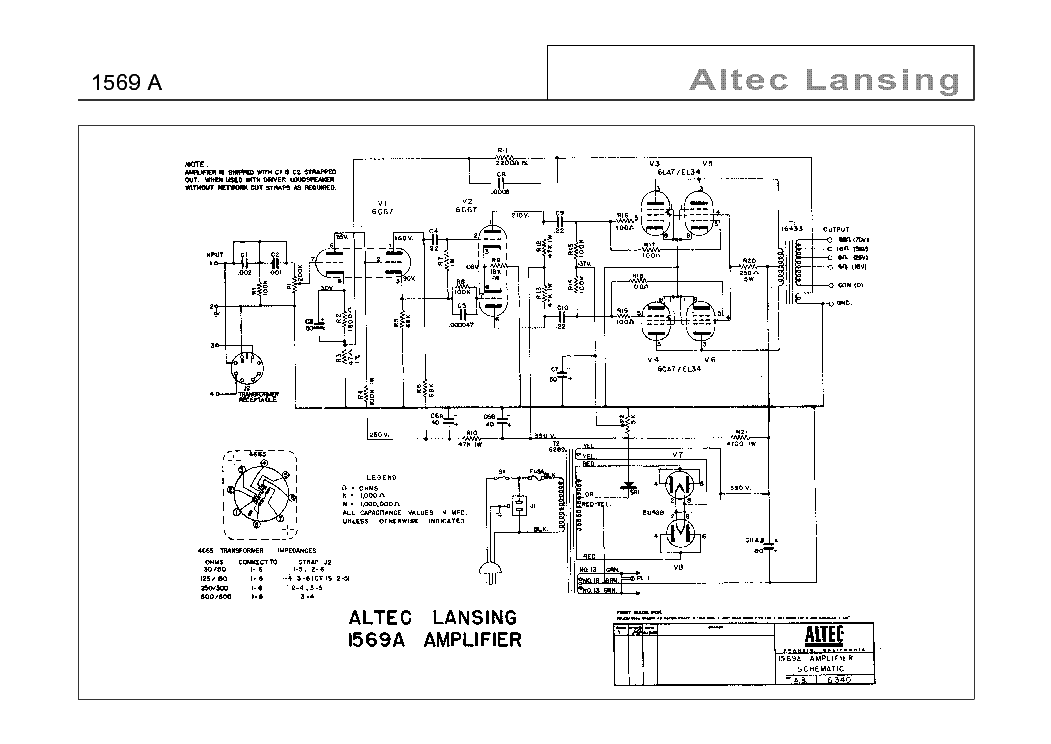 ALTEC-LANSING 1569-A SCH Service Manual download