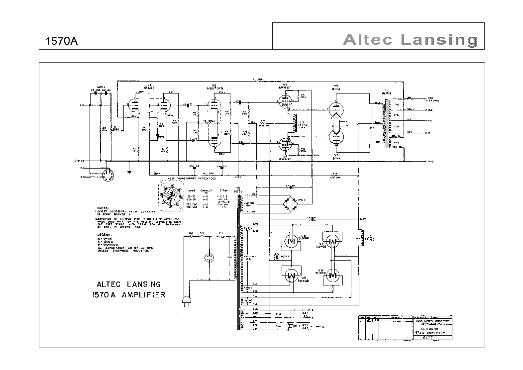 ALTEC-LANSING 1570-A SCH Service Manual download
