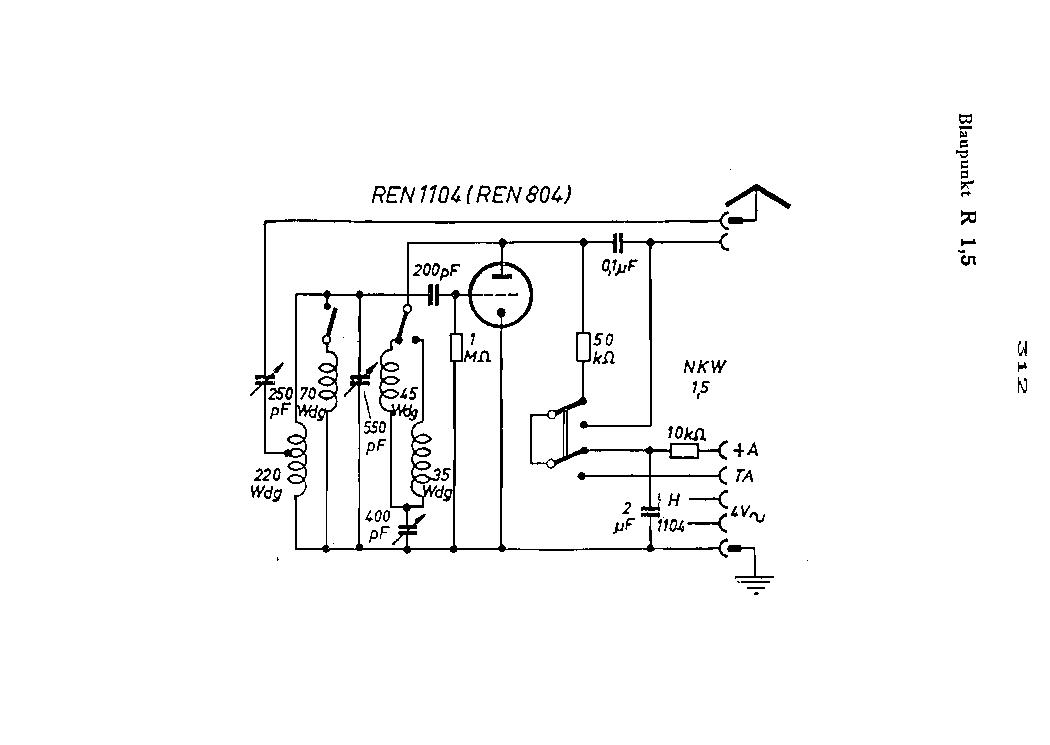 BLAUPUNKT R1 5 RADIO SCH Service Manual download