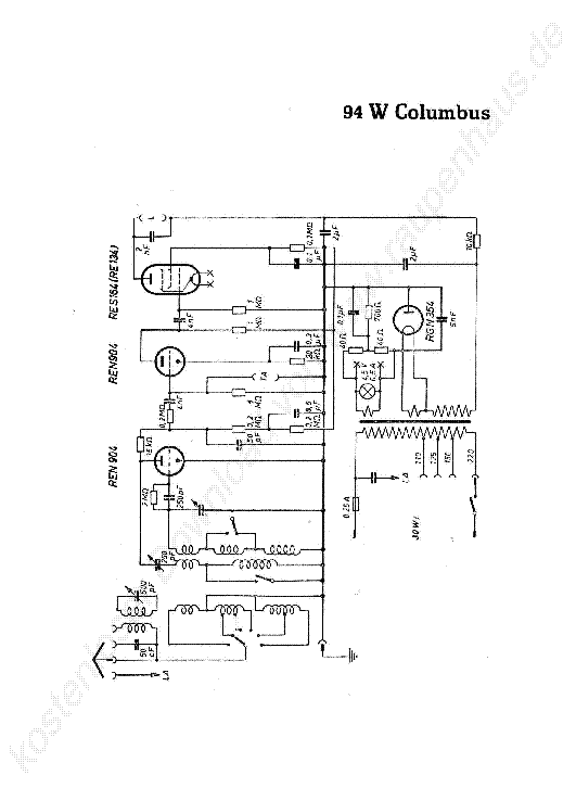 BRANDT 94 W COLUMBUS RADIO 1932 SCH Service Manual