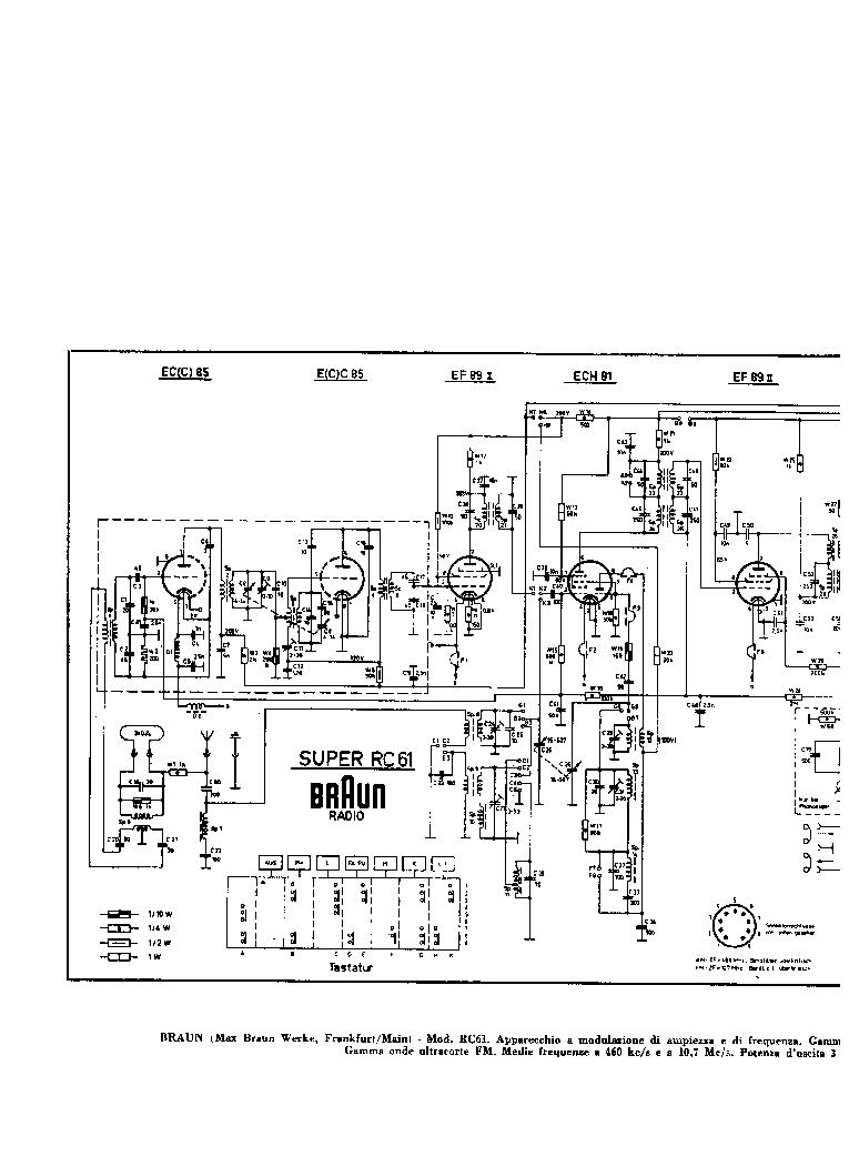 BRAUN RC61 Service Manual download, schematics, eeprom