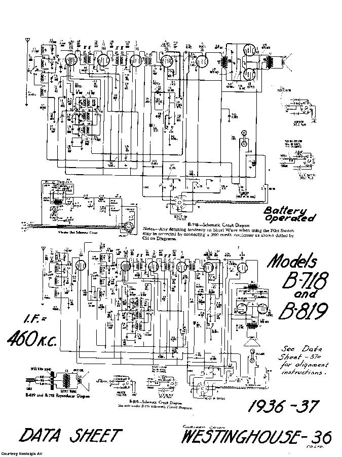 CANADIAN WESTINGHOUSE CO. LTD 5B819 SCH Service Manual