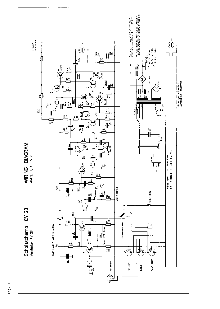 DUAL CV 20 SM Service Manual download, schematics, eeprom