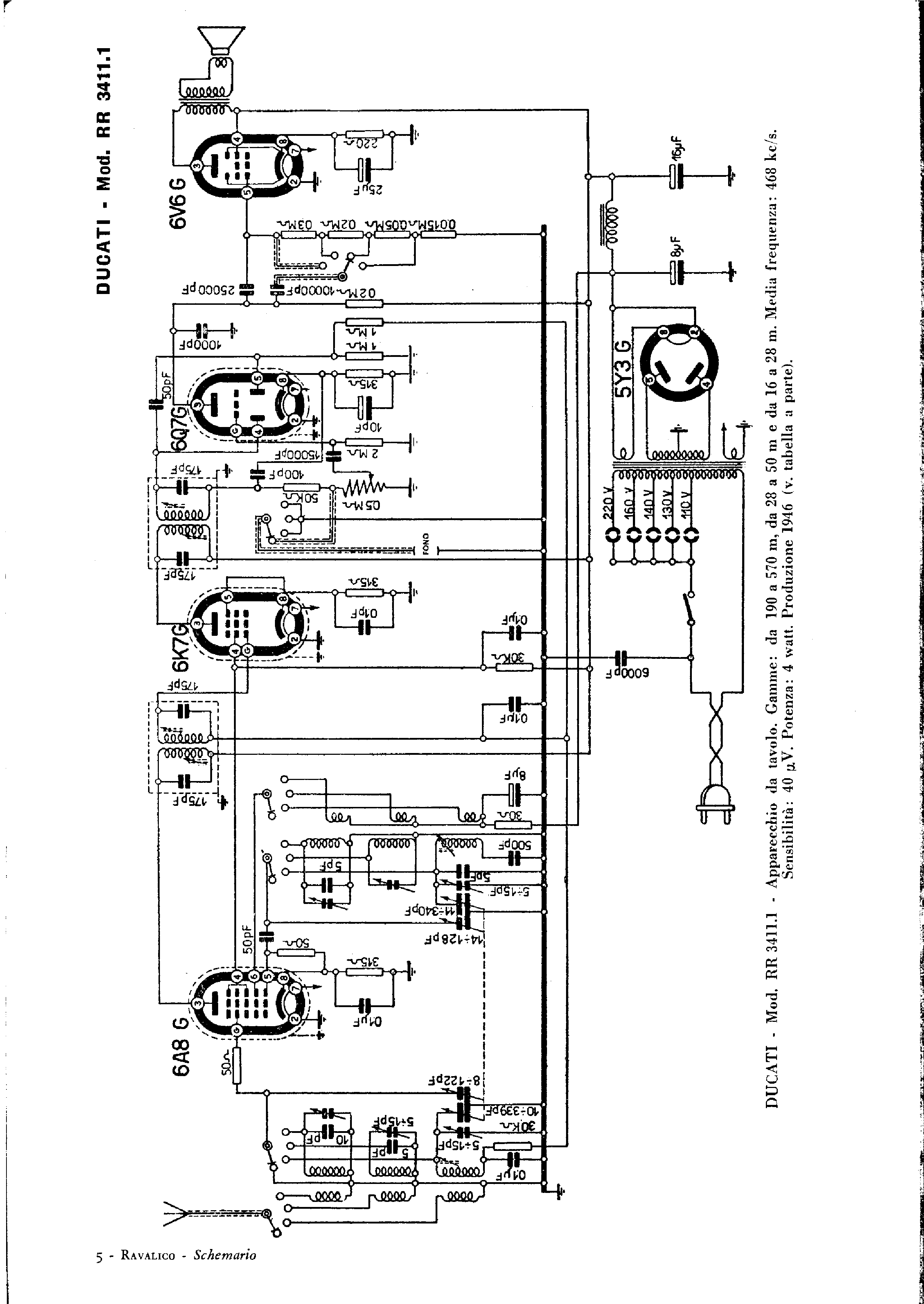 DUCATI RR4311 SCH Service Manual download, schematics
