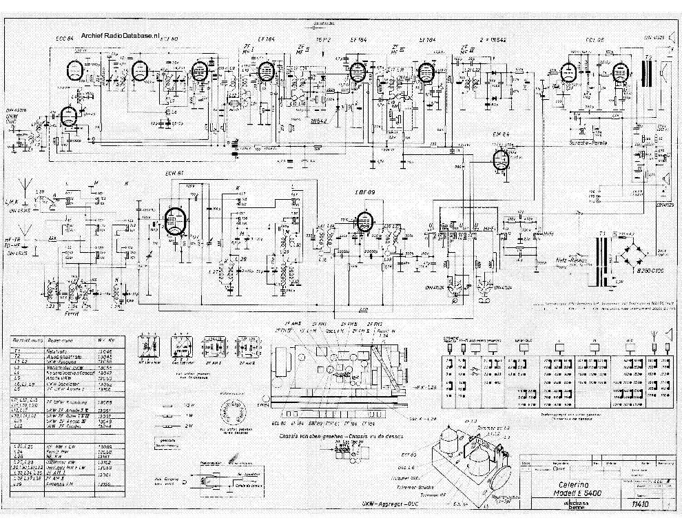 BIENNOPHONE CELERINA E6400 AM-FM RECEIVER 1964 SM Service