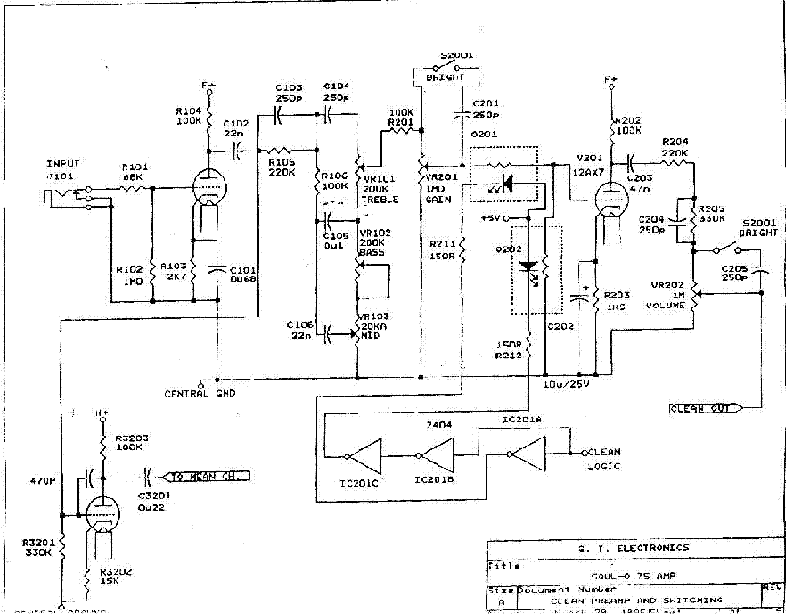GROOVE TUBES SOUL-0 75 Service Manual download, schematics