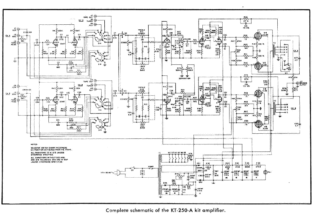 LAFAYETTE KT-250A SCH Service Manual download, schematics