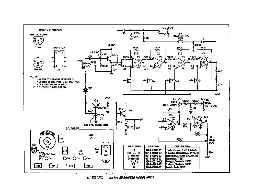 MAESTRO BOOMERANG 2 Service Manual download, schematics