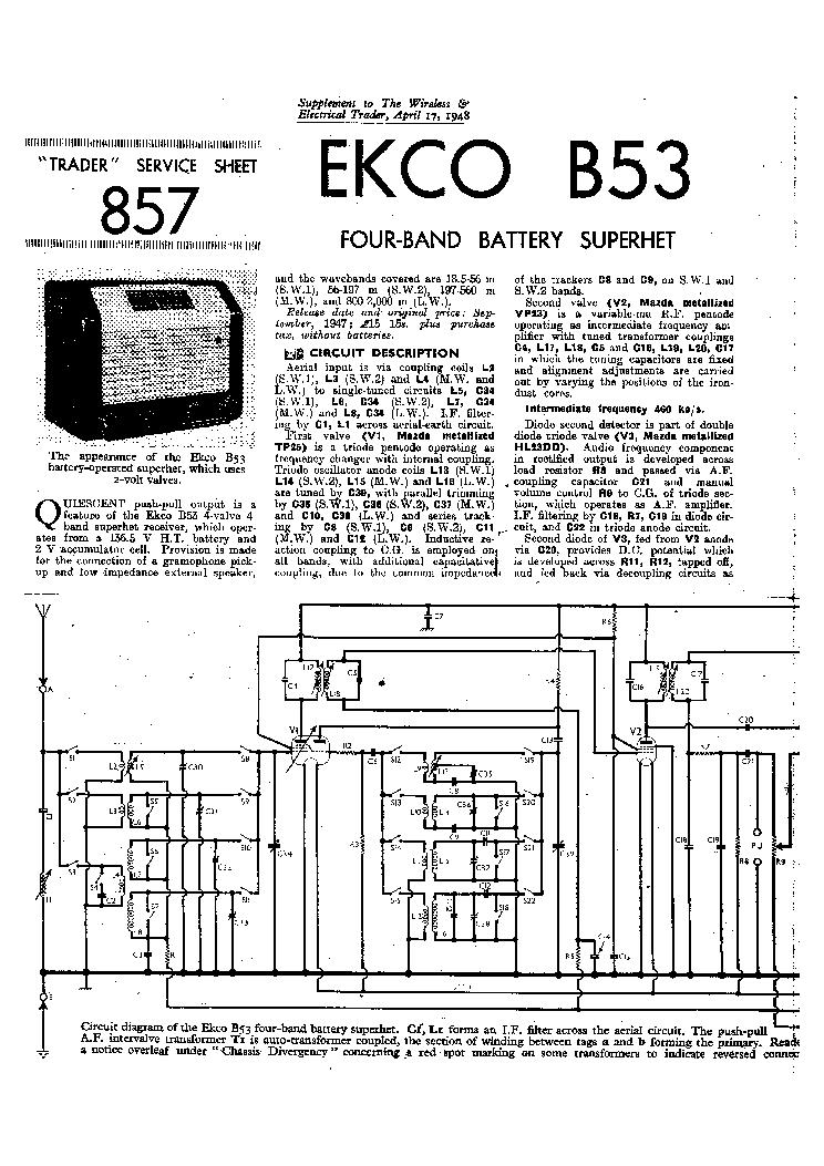 EKCO A455 FERRANTI A1149 RADIO 1967 SM Service Manual free