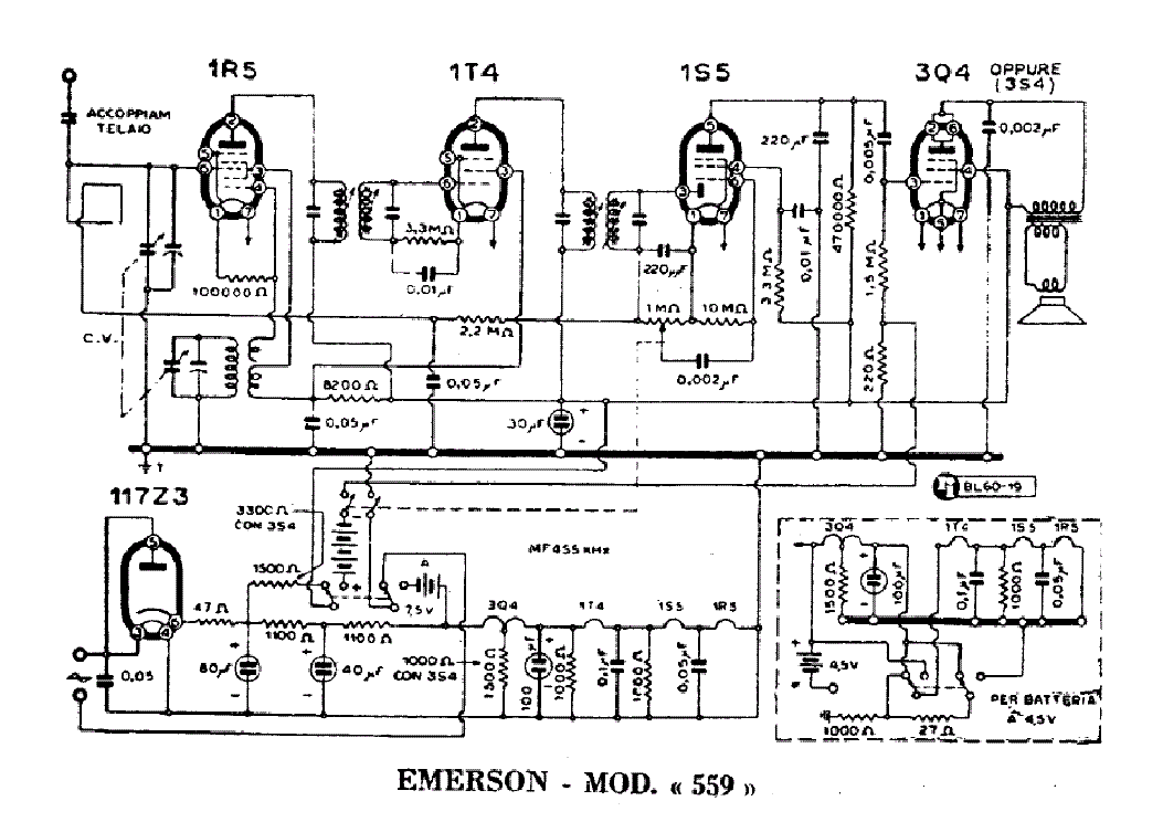 EMERSON 559 RADIO RECEIVER SCH Service Manual download