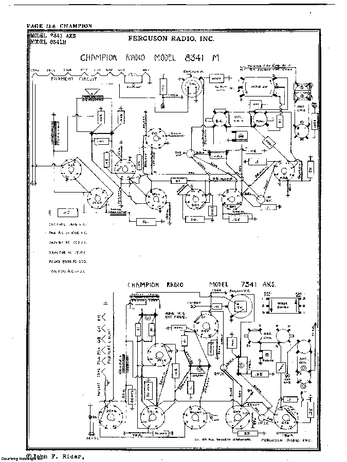 FERGUSON RADIO, INC. 7341 AKS 8341M Service Manual