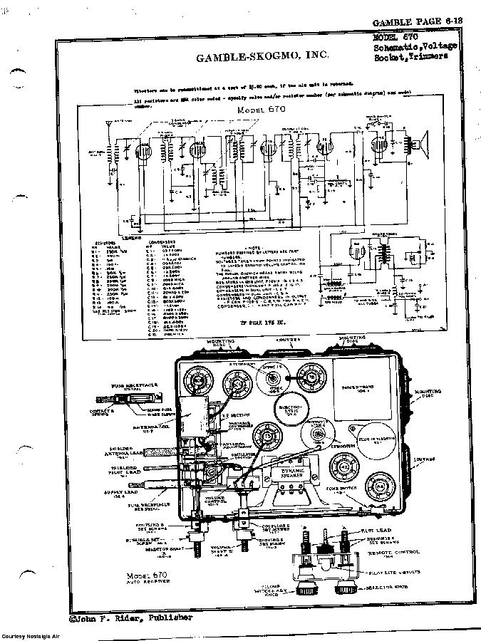 GAMBLE-SKOGMO, INC. 670 SCH Service Manual download