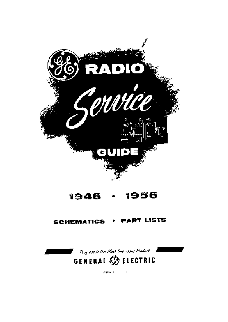 GE MODEL 645 646 647 648 RECEIVER SCH Service Manual