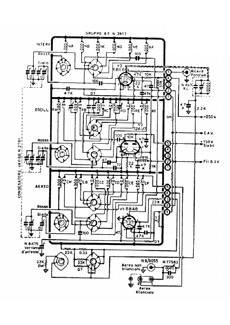 Geloso 2617 Rf Unit Sch Service Manual Download Schematics