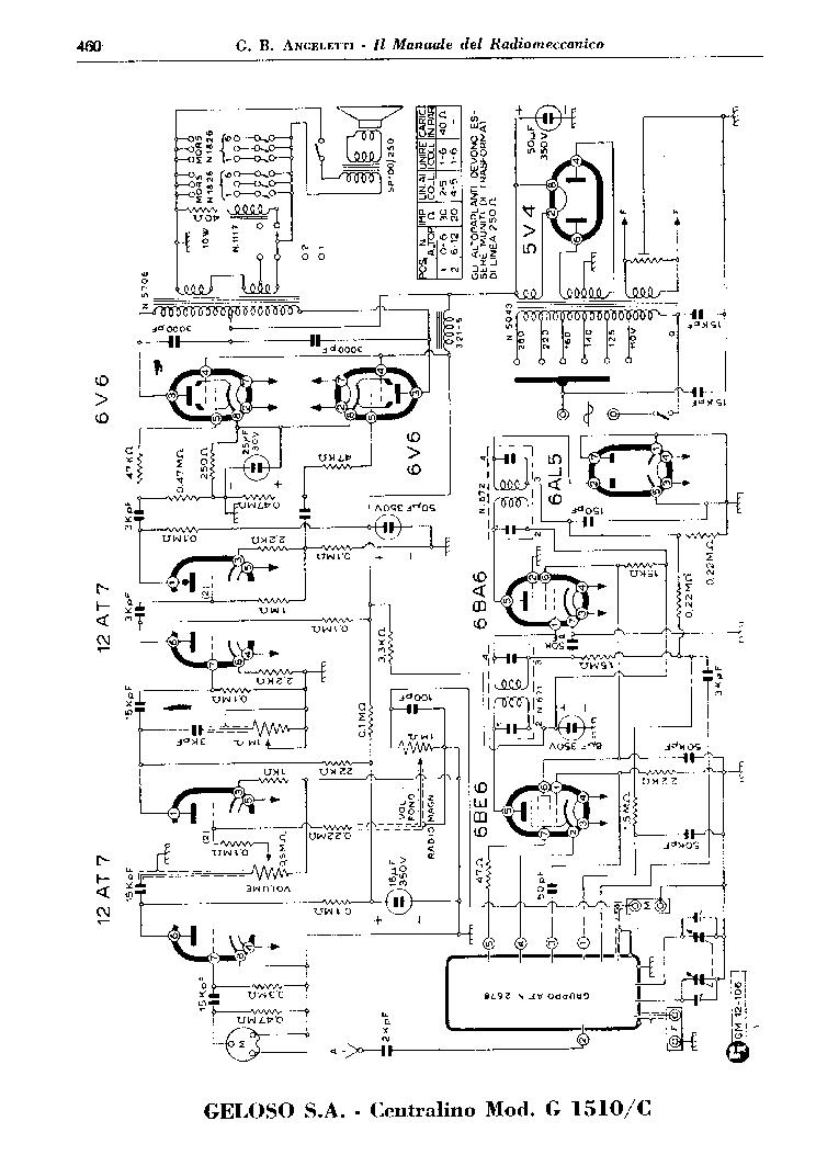 GELOSO CENTRALINO 1511C 1510C RECEIVER AMPLIFIER AND 2678