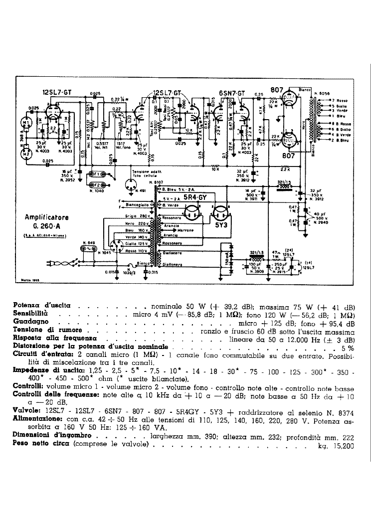 GELOSO G260A AUDIO AMPLIFIER SCH Service Manual download