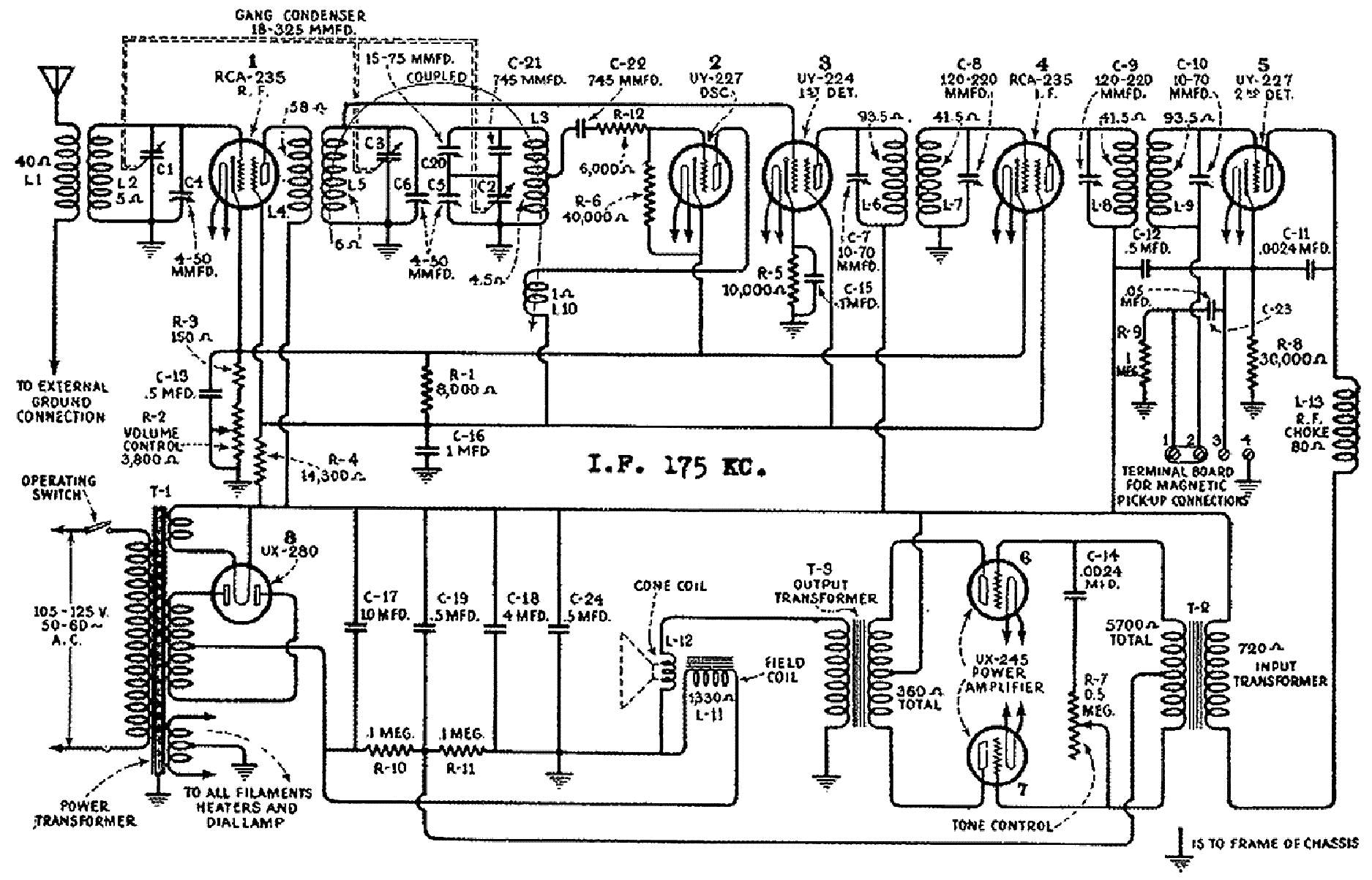 GENERAL ELECTRIC S22V RADIO SCH Service Manual download