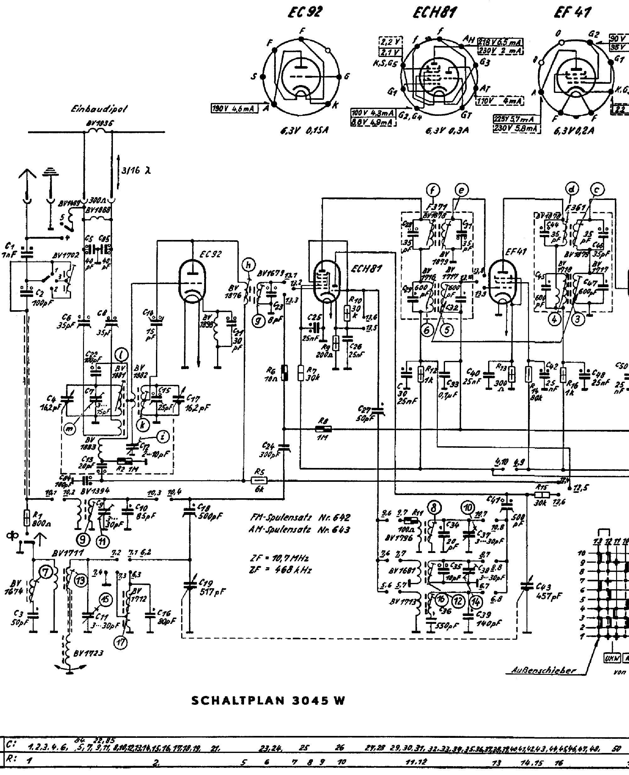 Grundig W Tube Radio Sch Service Manual Download