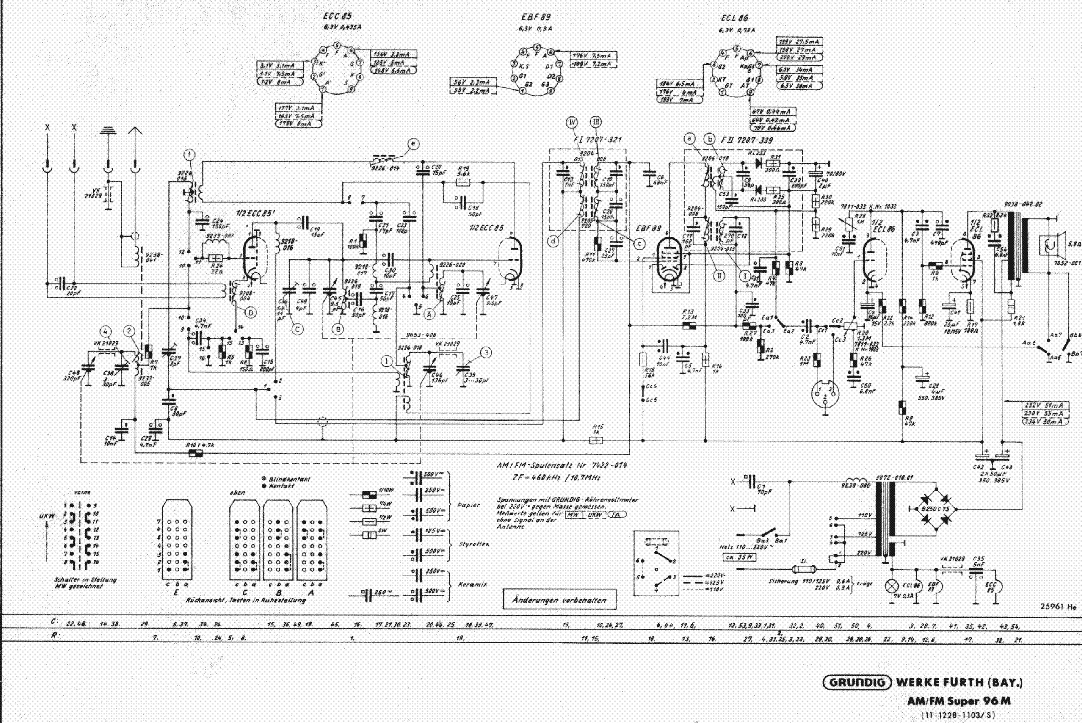 GRUNDIG 96M Service Manual download, schematics, eeprom