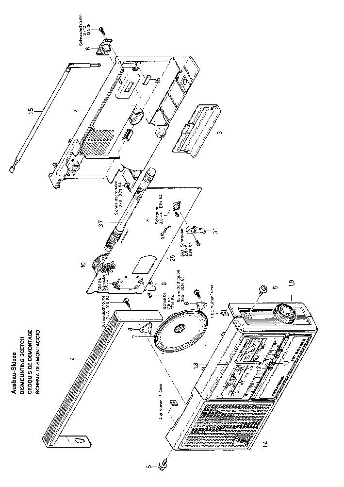 GRUNDIG HIT-BOY 310 SM Service Manual download, schematics