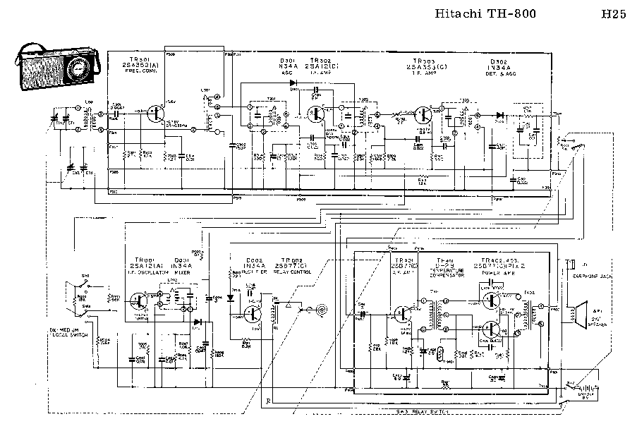 HITACHI HA4700,HA3700 Service Manual download, schematics