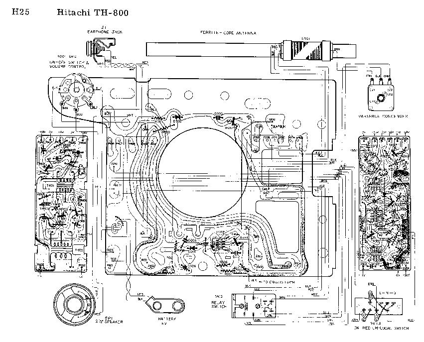 HITACHI TH800 SCH Service Manual download, schematics