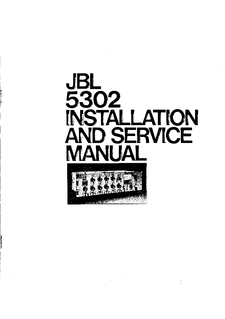 JBL 5302 6 MICROPHONE AND 2 LINE LEVEL INPUT AUDIO