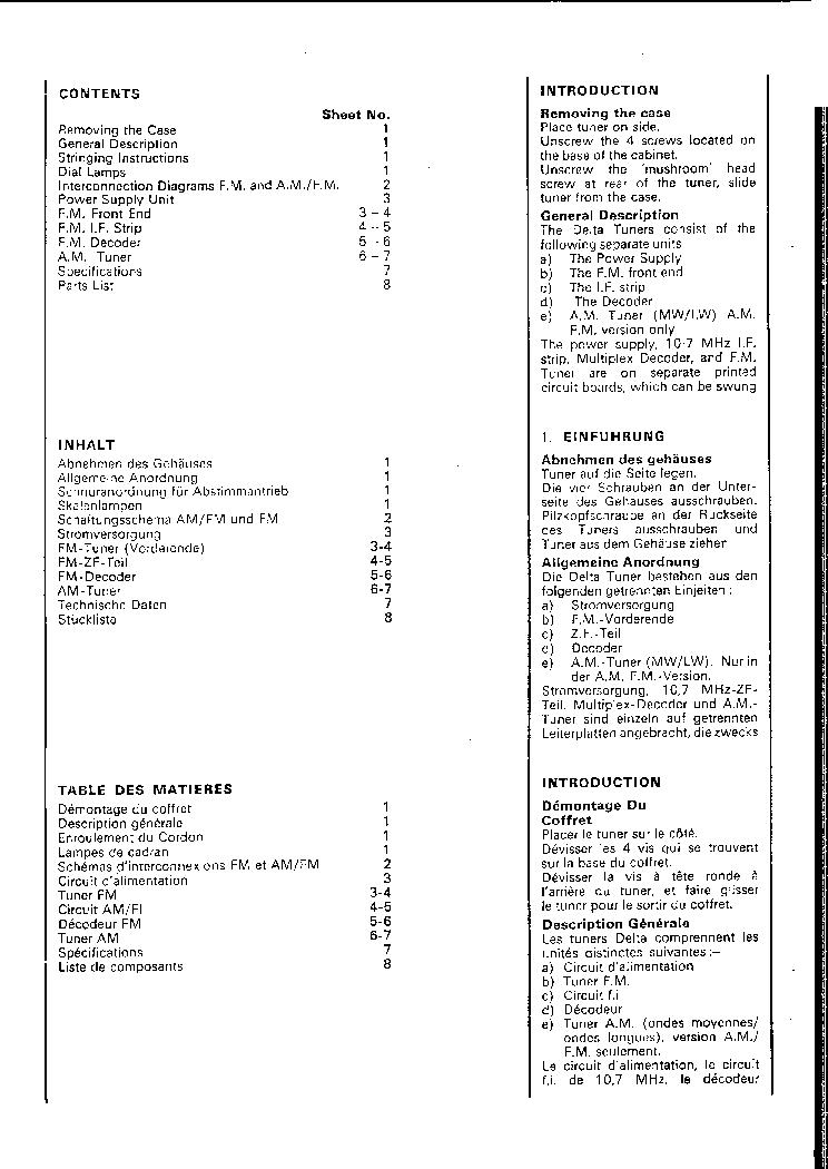 LEAK DELTA AM-FM RECEIVER 1979 SM Service Manual download