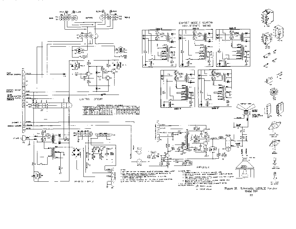 LESLIE 330 SCH Service Manual download, schematics, eeprom