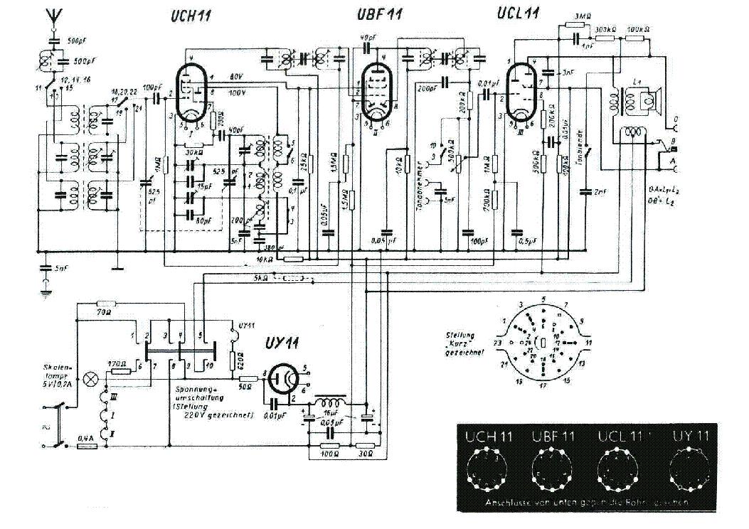 LOEWE OPTA TRUXA 1701 W VINTAGE RADIO SCH Service Manual