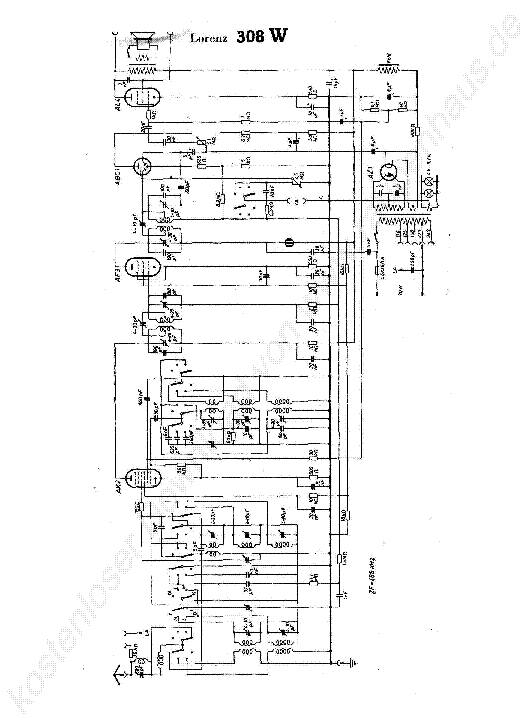 LORENZ 308 W Service Manual download, schematics, eeprom