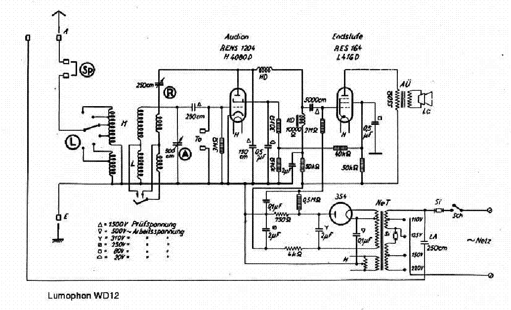 LUMOPHON WD12 Service Manual download, schematics, eeprom
