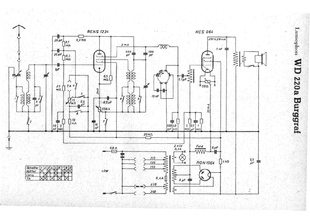 LUMOPHON RITTER WD326 RADIO SCH Service Manual download