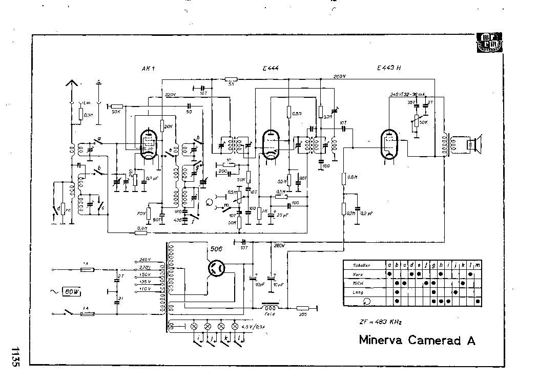MINERVA CAMERAD-A RADIO SCH Service Manual download