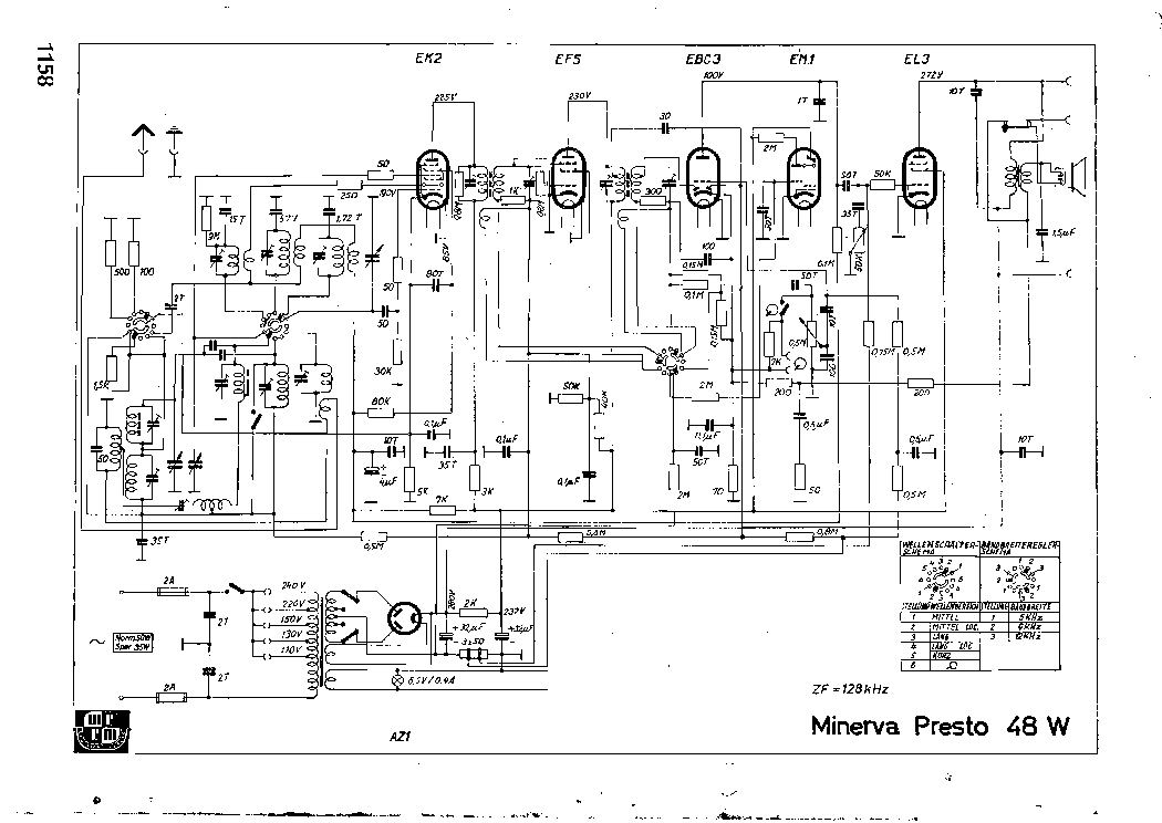 MINERVA PRESTO-48W RADIO SCH Service Manual download
