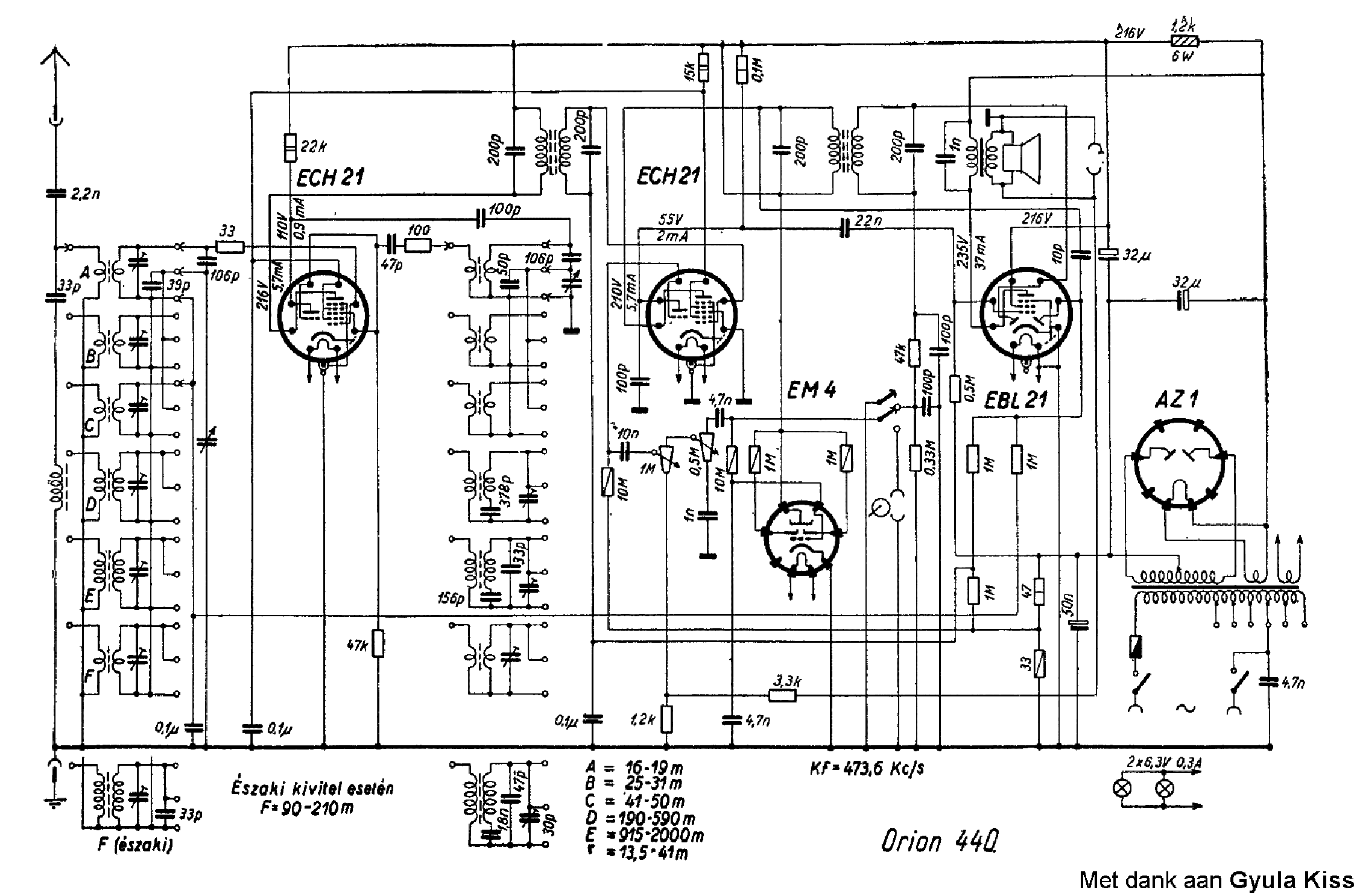 ORION AR306 RADIO SCH Service Manual download, schematics