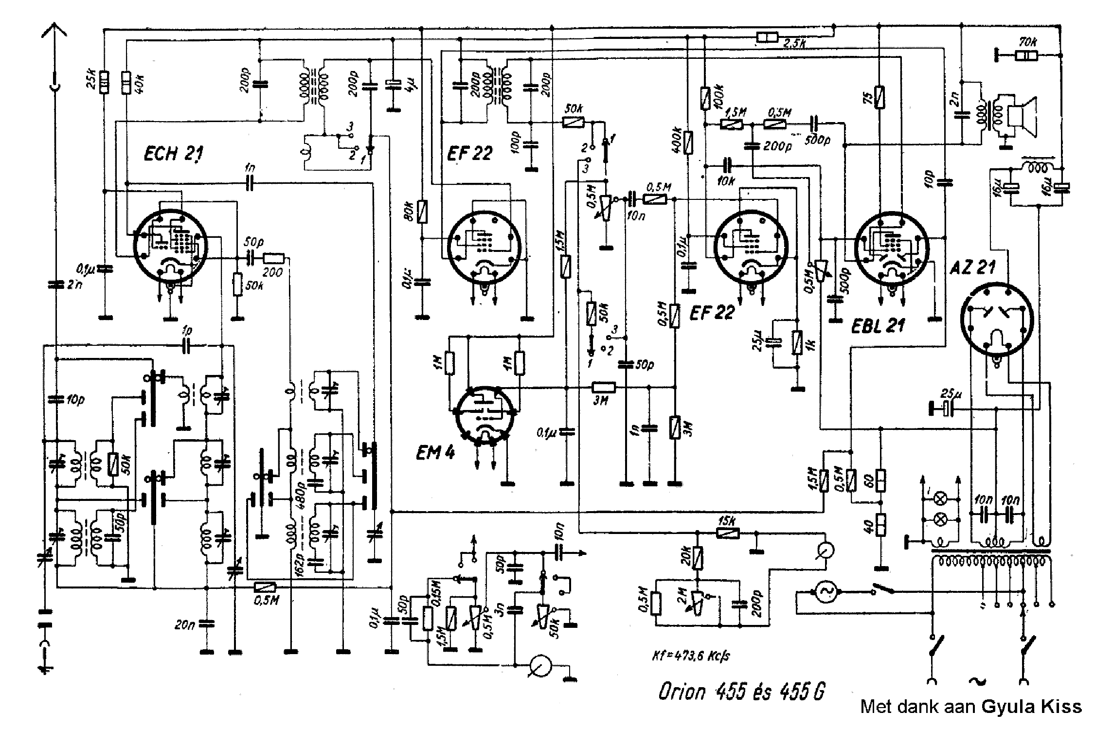 ORION 450M Service Manual download, schematics, eeprom