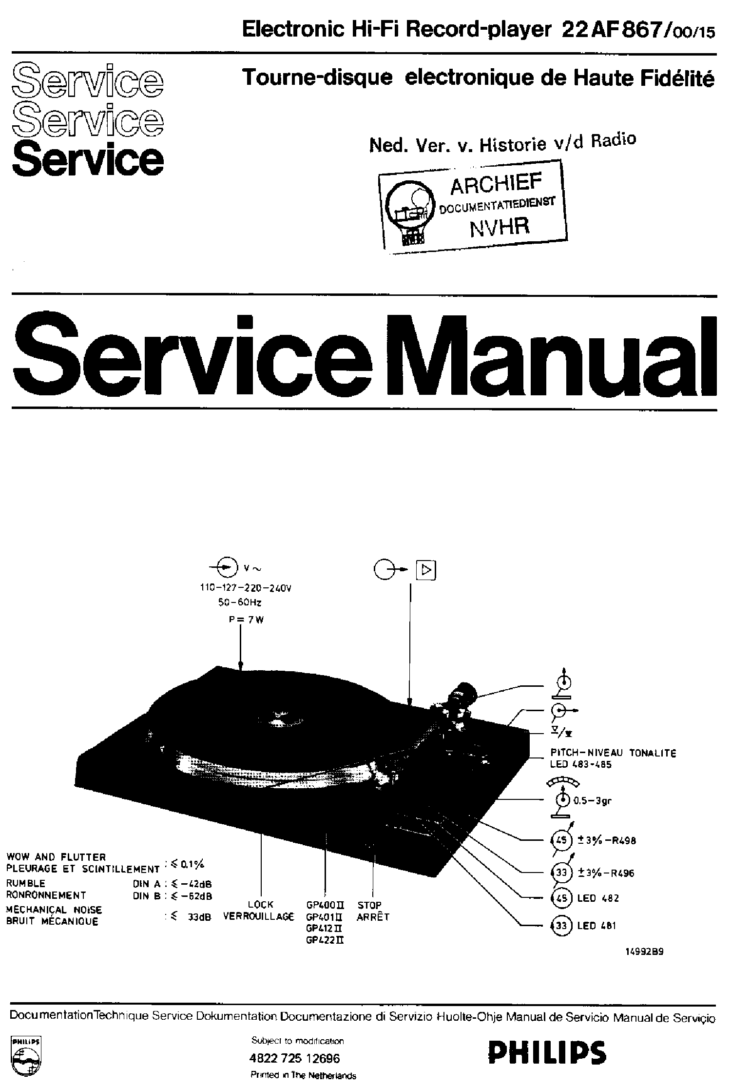 PHILIPS MCM2150 VER.1.0 Service Manual download