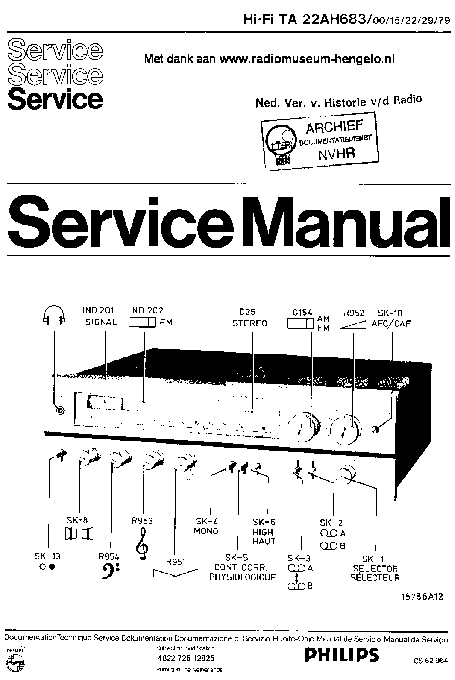 PHILIPS D6260 Service Manual download, schematics, eeprom