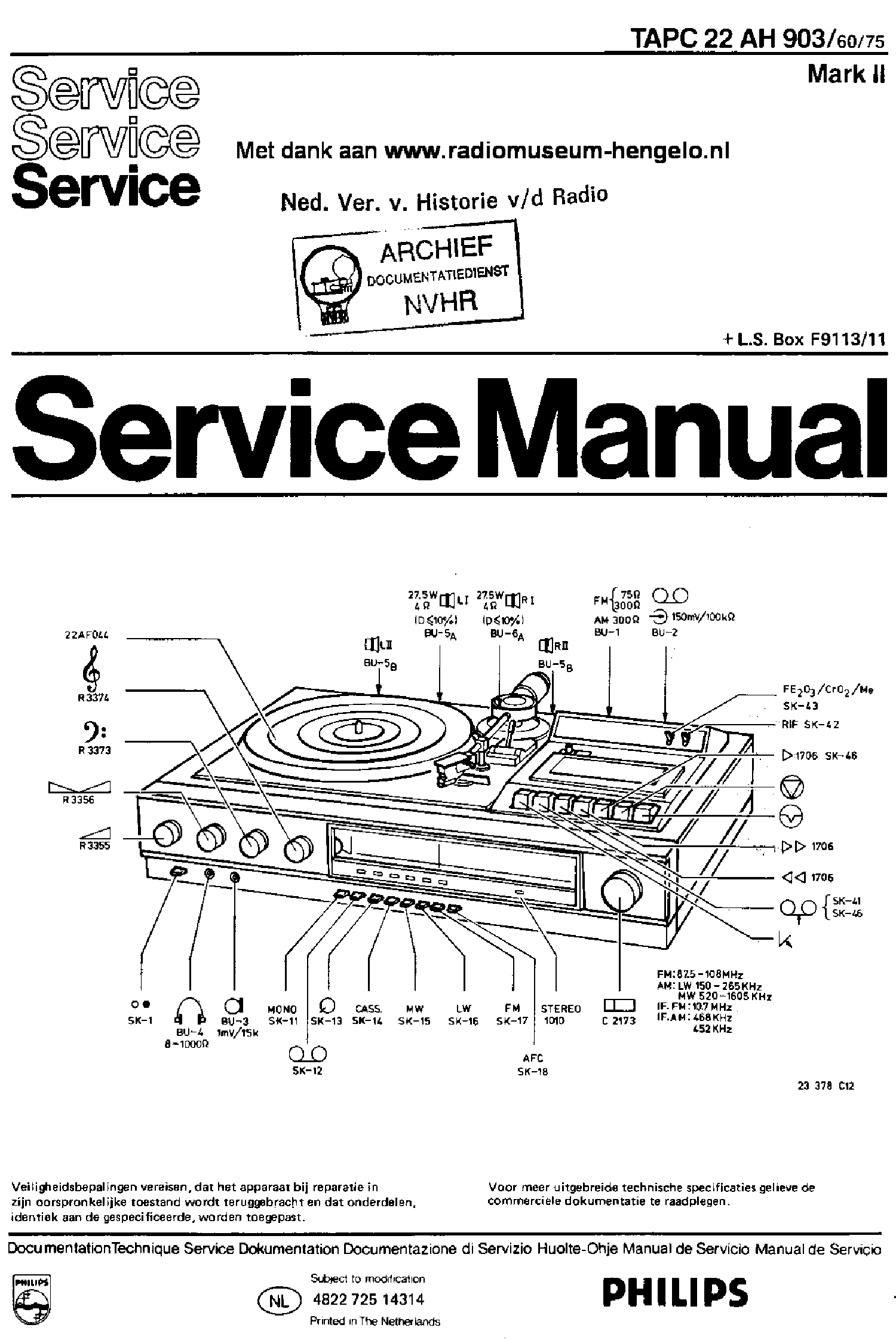 PHILIPS MCD908 VER-1.2 SM Service Manual download