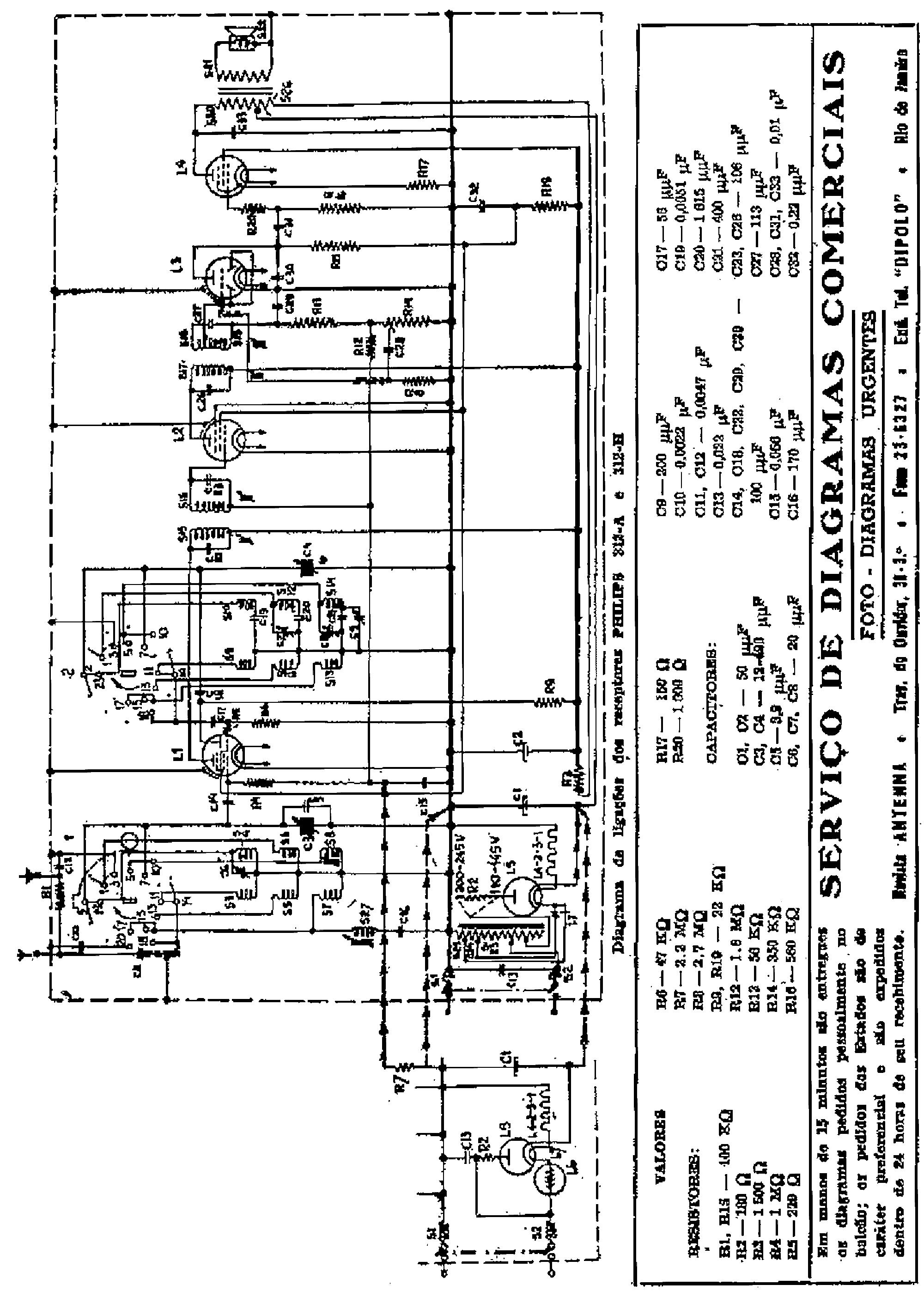 PHILIPS 312A E312H RADIO 1946 SM Service Manual download
